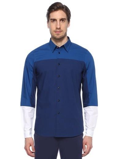 PS by Paul Smith Uzun Kollu Gömlek Mavi